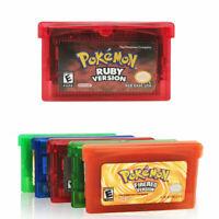Games Card Carts Fan Advance Cartridge For Gameboy Pokemon NDSL GBC GBM GBA SP !