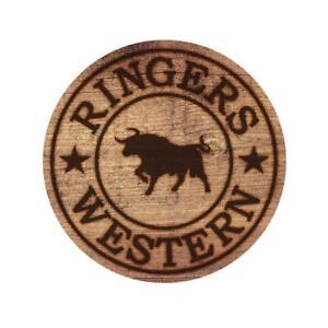 RW Wood Logo Sticker