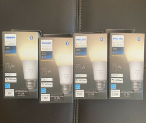 Philips Hue 75w A19 White Dimmable Bulbs