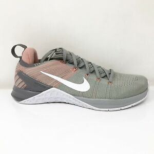 Nike Womens Metcon DSX Flyknit 2 924595-002 Gray Pink Running Shoes Size 8.5