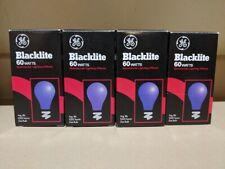 Ge Indoor Blacklites Lightbulbs 60w Med Base 1000 hrs of life | Lot Of 4