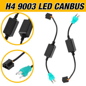 Pair H4 7'' LED Headlight Canbus Conversion Kit Decoder Stable Current