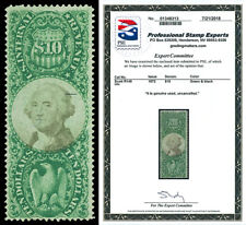 Scott R149 1872 $10.00 Third Issue Revenue Uncancelled F-VF with PSE CERTIFICATE