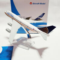 American Air United Airlines B747 Aircraft Model 16cm Die-cast Metal Airplane