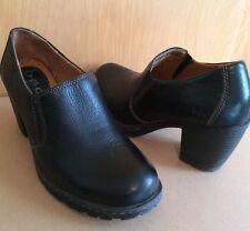 Born~6~Platform Heels~Black Leather~Born Concept