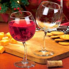 Tipsy Wine Glasses 12 Oz Goblets With Slightly Bent Stems Set of 2