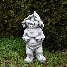 """Großer massiver Gnom """"Ich mag mich"""" Troll Wichtel Kobold aus Steinguss frostfest"""
