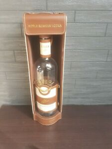 Beluga allure Noble russian Vodka glass bottle and leather case
