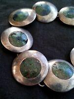 Vintage sterling turquoise silver bracelet, 30 grams