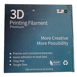 New ZIRO 3D Printer Filament 3.00mm 1KG Color Z Marble White Tangle Clog Free