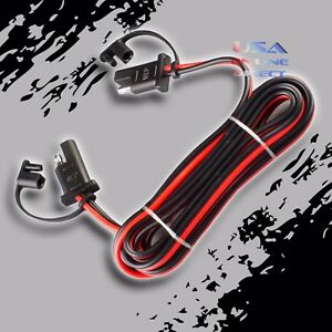 """16 Gauge 96"""" Car Quick Disconnect Connect 2-Pin SAE Waterproof Wire Harness Plug"""