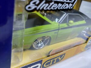 Jada Dub City Big Time Muscle Green 1970 Dodge Charger R/T 1:24 SCALE NIB