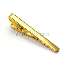 NEW Premium Mens Gold Metal Tie Bar Holder Clip Simple Jewelry Clasp