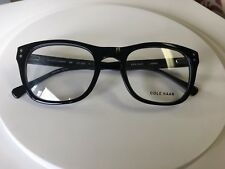 NEW NWT COLE HAAN CH 259 Size 52 mm 21mm Keyhole Black Plastic Frame Eyeglasses