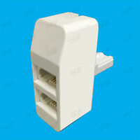 Twin BT Socket, Telephone Line Splitter, Dual 2 Way Double Adapter Connection