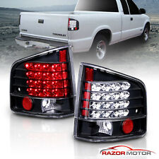1994 2004 Chevrolet S10 Gmc Sonoma Isuzu Hombre Black Rear Led Brake Tail Lights Fits 1999
