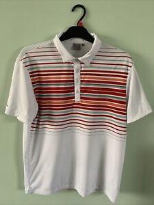 Ping Golf Polo Top Sensor Cool White Red Orange Grey Size Large