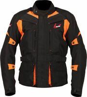 Weise Pioneer Jacket Men's Black Orange Waterproof Textile Motorcycle Jacket NEW