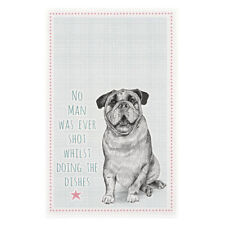 Dog Tea Towel - No Man Was Ever Shot Whilst Doing The Dishes