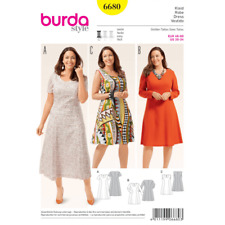 Burda Misses Plus Fit and Flare Dresses with Variations Sewing Pattern 6680