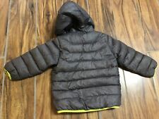 Snozu Boys Puffer Winter Warm Snow Fleece Lined Hooded Jacket sz 2T