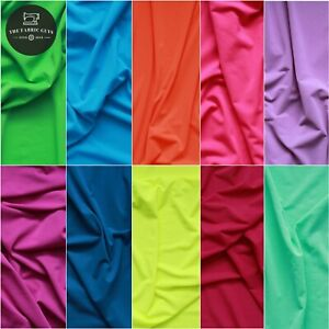 Lightweight Knitted Plain Jersey, 100% Polyester, 14 Colours, 150cm Wide