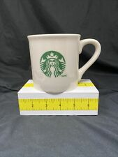 Starbucks Coffee 2013 White Mug Green Siren Mermaid Logo 14 FL OZ Coffee Mug