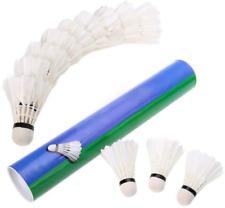Goose Feather Training Badminton Shuttlecocks 12pcs Ball Pro Birdies High Speed