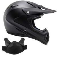 Snowmobile Helmet Snocross Matte Black With Breathbox Adult DOT Snow Open Face