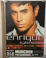 Enrique Iglesias One Night Stand Tour Poster In Munchen @ Philharmonie Germany