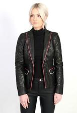 Just Cavalli Black Leather Jacket £895 Small IT40 UK8 US6 Roberto Blazer Coat