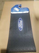 "Ford "" Oval "" Elite Blue Logo Rear Rubber Runner Floor Mats SUV Truck"