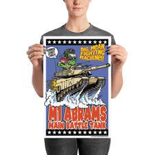 M1 Abrams Tank Poster - Rat Fink Hot Rod Style - Dave Gink Original Design