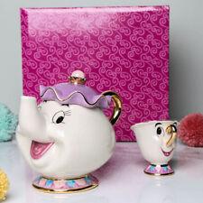 Beauty And The Beast Teapot Cartoon Mug Mrs Potts Chip Tea Pot Cup Set XMAS UK