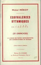 MERIOT - Equivalences rythmiques (25 exercices) cours moyens et supérieurs