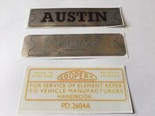 Classic Austin Rocker Cover Sticker Mini A30 1100 1300 LANDCRAB A40 Cambridge