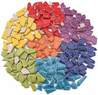 Ceramic Mosaic Tiles for Crafts, Irregularly Shaped Mosaic Pieces (Mixed Colors)