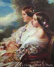 Queen Victoria and Her Cousin Victoire by Winterhalter 8x10  Print 1012