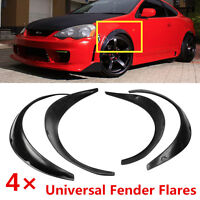 Universal 4Pcs Fender Flares Flexible Yet Durable Polyurethane Cover For One Car
