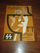 BROCHURE,IL PONTE,1959,Die Brücke,Bernhard Wicki.Wepper,BOHNET,WAR NAZI,WAR