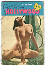 RIVISTA VINTAGE SEXY PIN UP MAGAZINE - PARIS HOLLYWOOD N. 18 1959