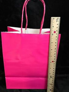 Hallmark Large Pink Gift bags- Pack Of 6 - 8x10