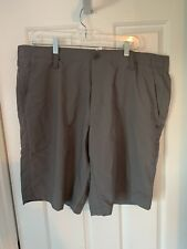 Under Armour Golf Mens Heat Gear Gray Shorts Loose Fit Flat Front 42 NWT $59