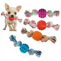 Braided Rope Pet Dog Toys Chew Pull Toy Dog Toy For Aggressive with Ball Ch V0U8