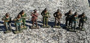 GREY IRON CAST IRON SOLDIER / PIRATE SET - early  (Lot of 9) -  ALL ONE PRICE