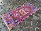 Bath rug, Small rug, Vintage handmade rug, Turkish ethnic rug | 1,3 x 3,0 ft