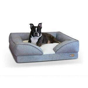 "K&H Pet Products Pillow-Top Orthopedic Pet Lounger Medium Gray 24"" x 30"" x 8.75"""