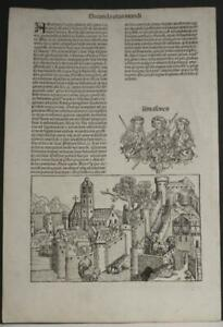THEMISCYRA AMAZONES TURKEY 1493 SCHEDEL RARE ANTIQUE VIEW FIRST LATIN EDTION