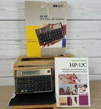 New ListingVintage Hp-12C Programmable Financial Calculator Case Box Manual Collectible Euc