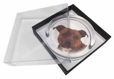 Staffordshire Bull Terrier Dog Glass Paperweight in Gift Box Christma, AD-SBT6PW